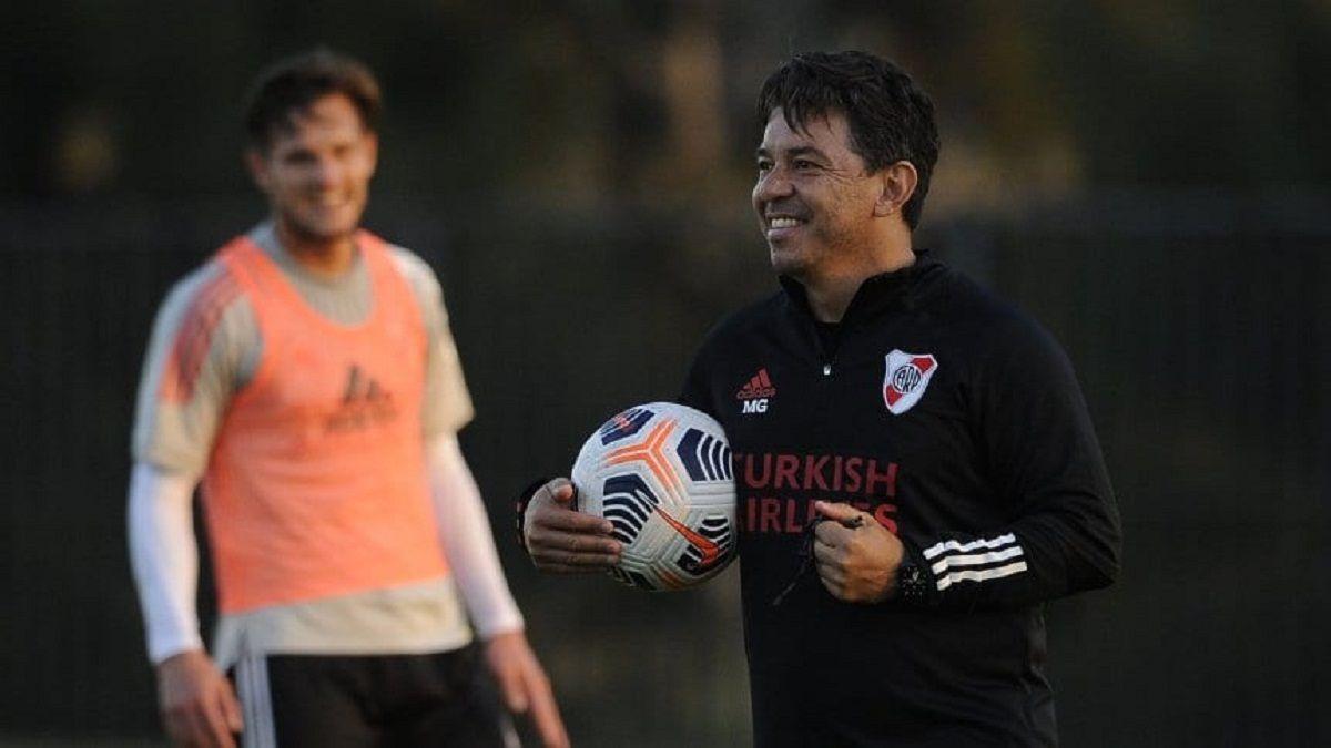 River se prepara para Argentinos: Gallardo empieza a definir los 11