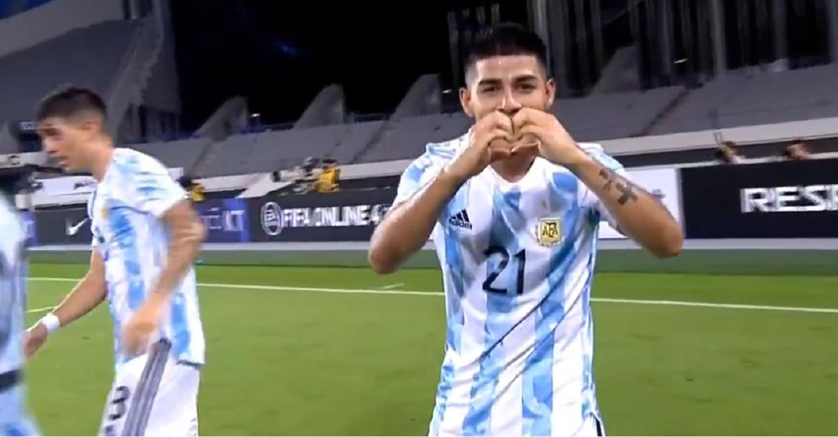 Argentina ganaba con dos golazos y se lo empataron en el final