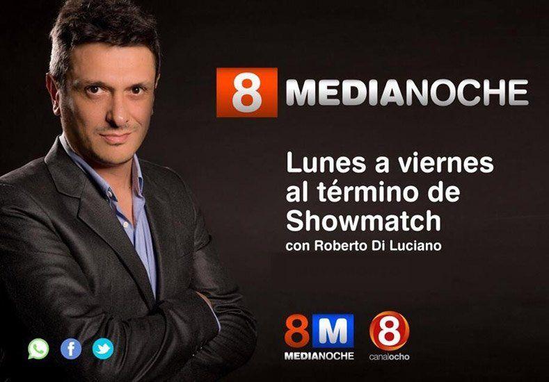 Este lunes Roberto Diluciano llega a la pantalla del canal de San Juan con 8 Medianoche