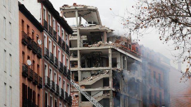 Fuerte explosión en Madrid.