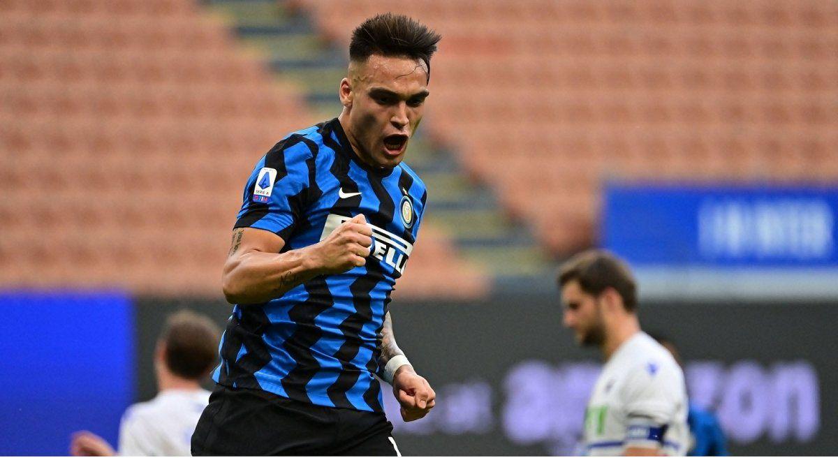 Lautaro Martínez hizo un gol en los festejos de Inter