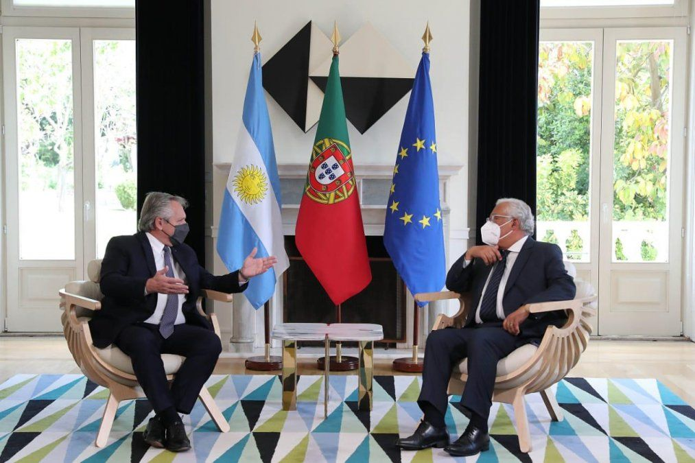 Alberto Fernández se reúne con el primer ministro de Portugal