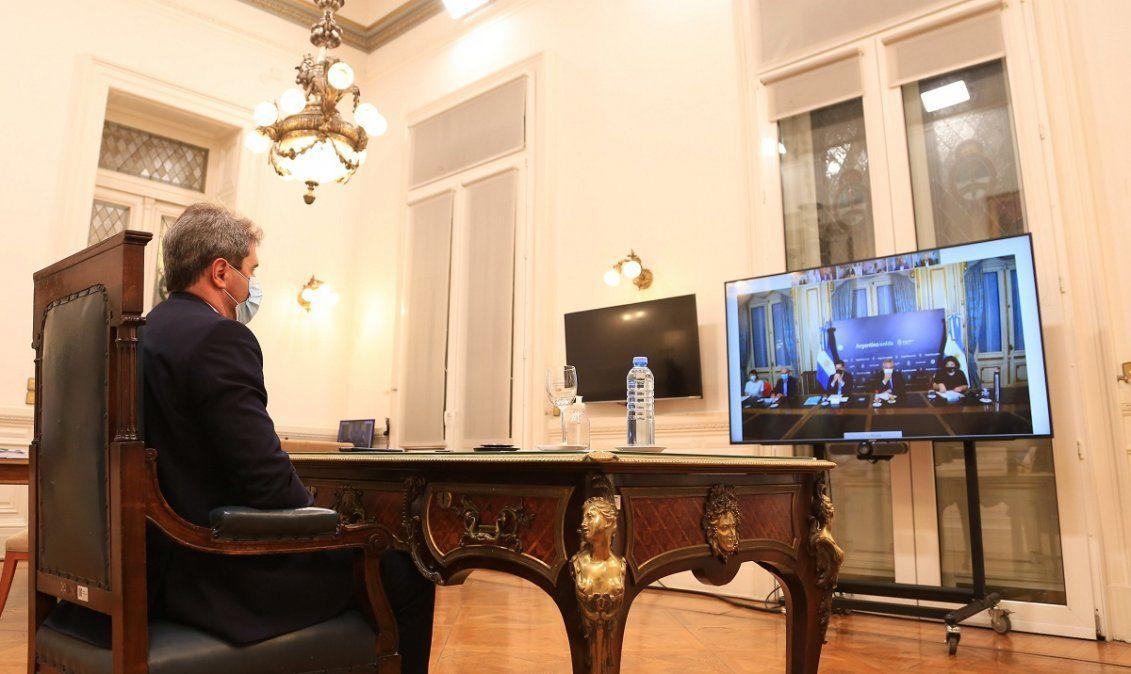 Fernández pidió a Uñac y otros gobernadores bajar la cantidad de contagios
