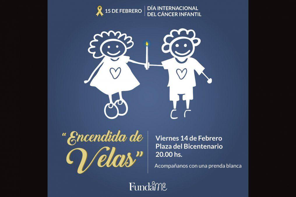 Prendas blancas y velas, el significativo acto por el Día Internacional del Cáncer Infantil