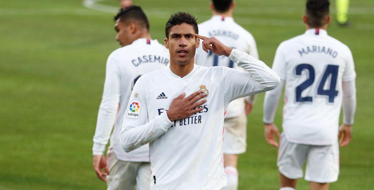 Varane fue el salvador de Real Madrid ante Huesca.