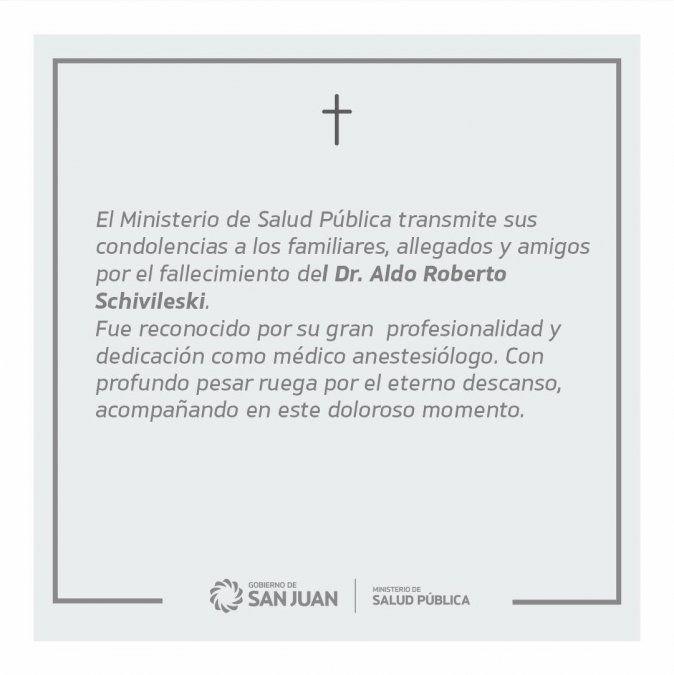 Otro médico sanjuanino murió por coronavirus y en las redes lo despidieron con gran cariño