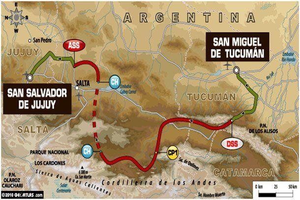 El Dakar inicia el recorrido de la etapa 3 por estos caminos