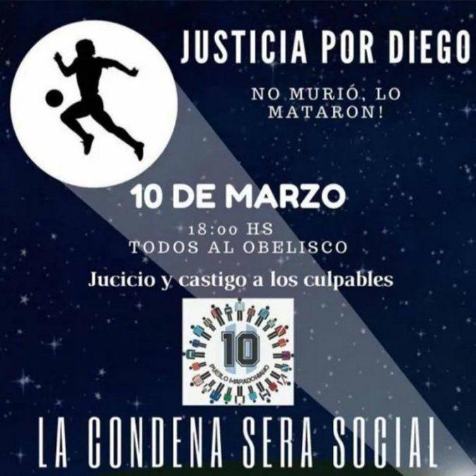 Gianinna Maradona convocó a una marcha por Diego: Lo mataron
