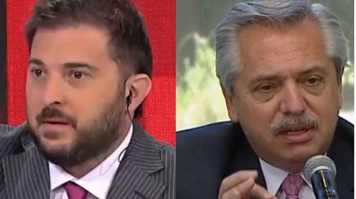 Diego Brancatelli criticó a Alberto Fernández: Así no va
