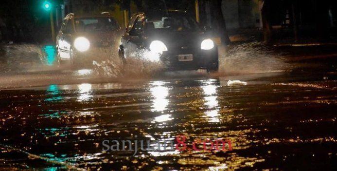 Emitieron un alerta por llegada de tormenta con una intensa lluvia y caída de granizo