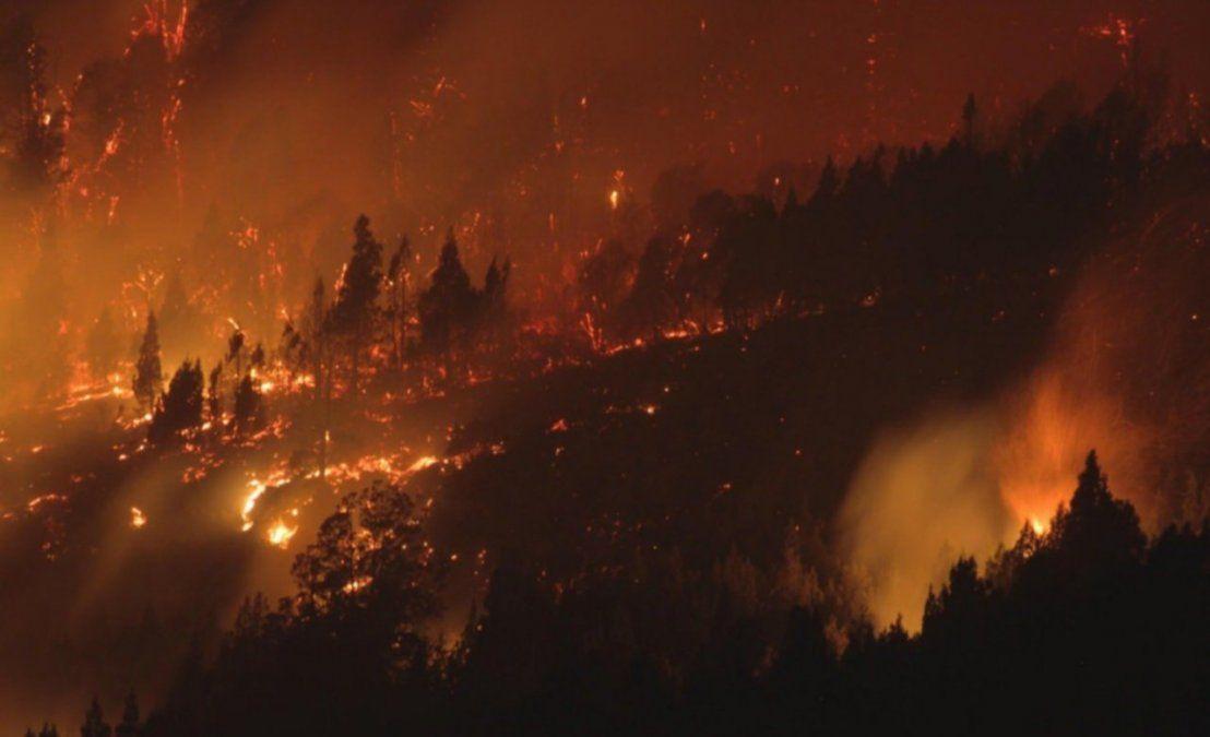 El incendio en la Patagonia se cobró la primera víctima