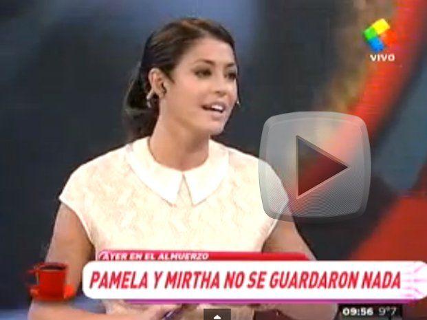 Pamela David habló sobre su fuerte cruce con Mirtha Legrand