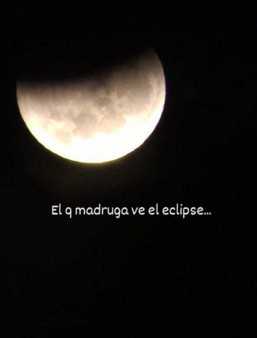 Eclipse lunar en San Juan: foto tomada en Zonda por Andes Límites.