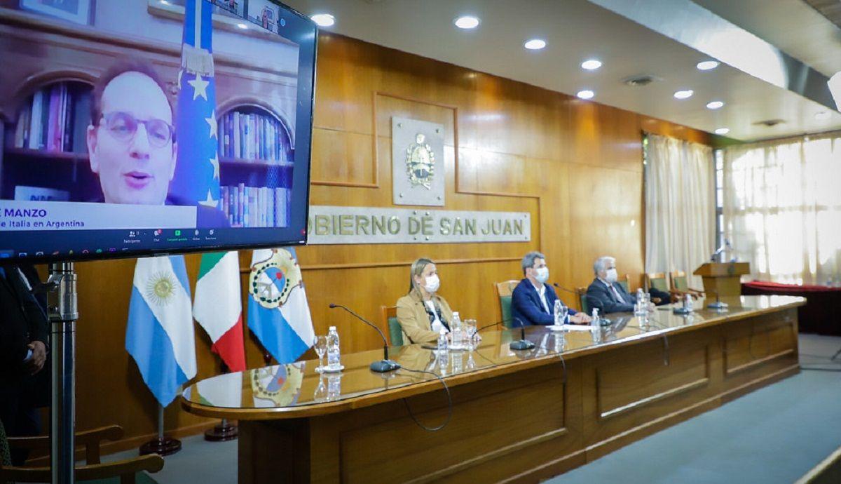 San Juan expuso sus oportunidades comerciales a empresarios italianos