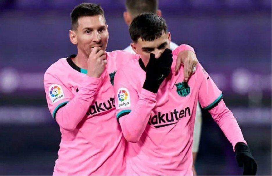 Messi inició la remontada ante Rayo Vallecano.