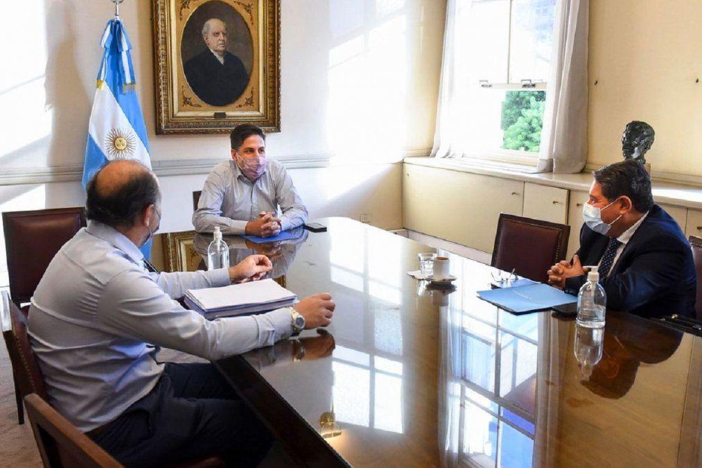 De Los Ríos se reunió con Trotta por la reconstrucción de las escuelas