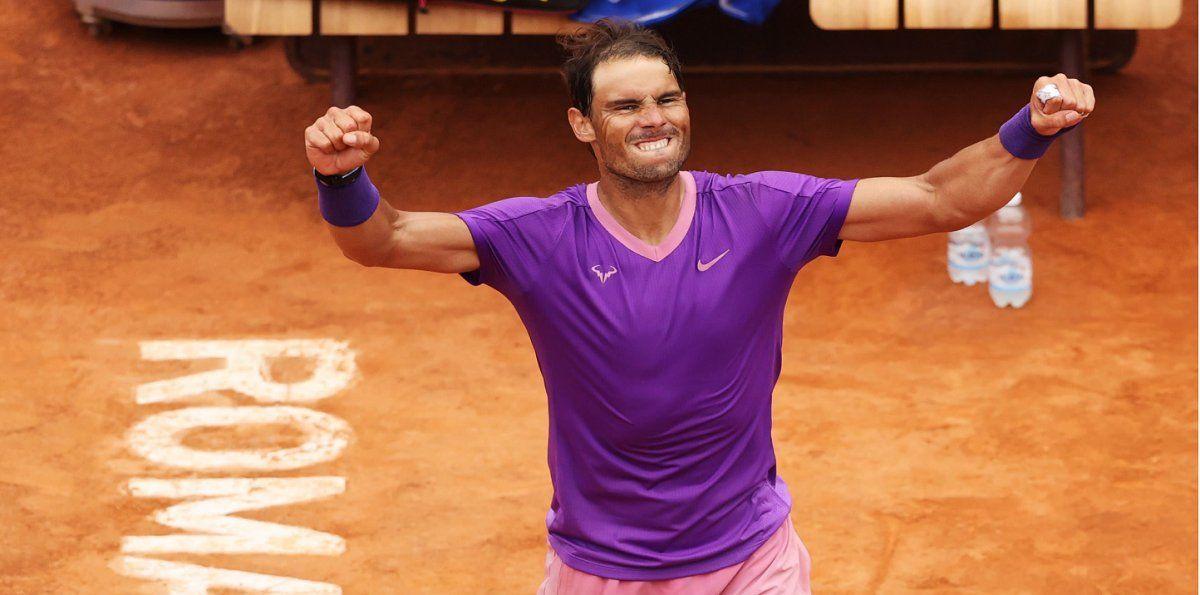 Nadal venció a Djokovic y se coronó campeón en Roma