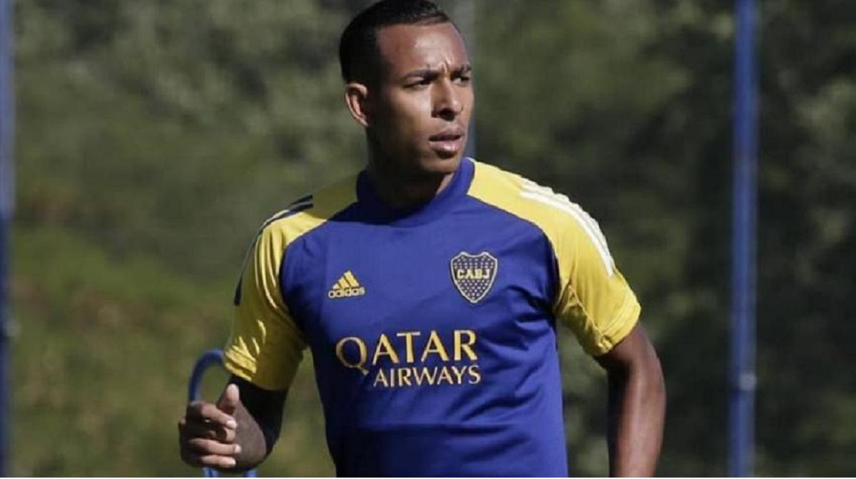 Sebastián Villa volvió a entrenar en Boca