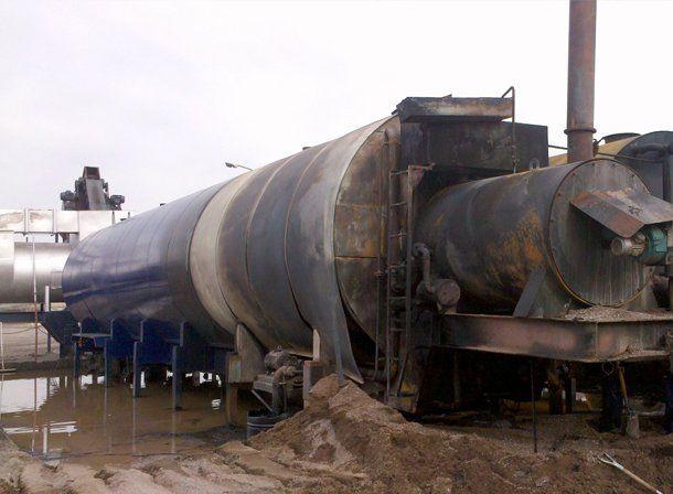 Pocito: en un principio de incendio se quemó la máquina que le provee asfalto al Estadio Único