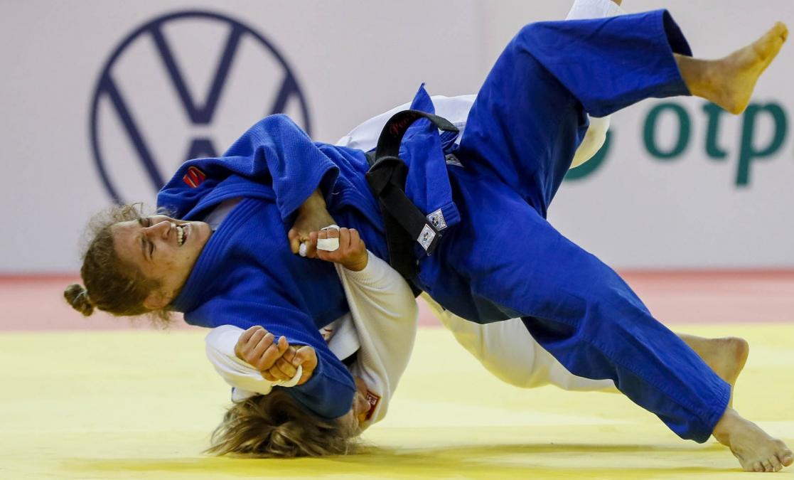Pareto ganó la medalla plateada en el Grand Slam de Budapest de judo