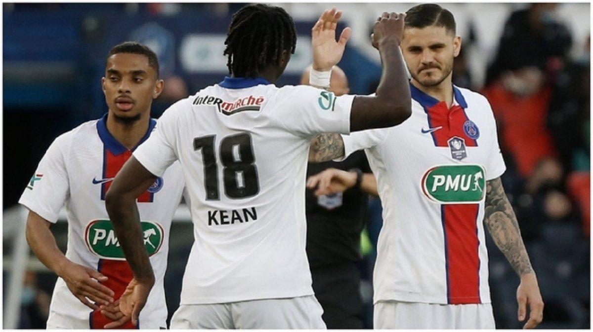 Icardi hizo un gol en triunfo de campeón PSG de Pochettino