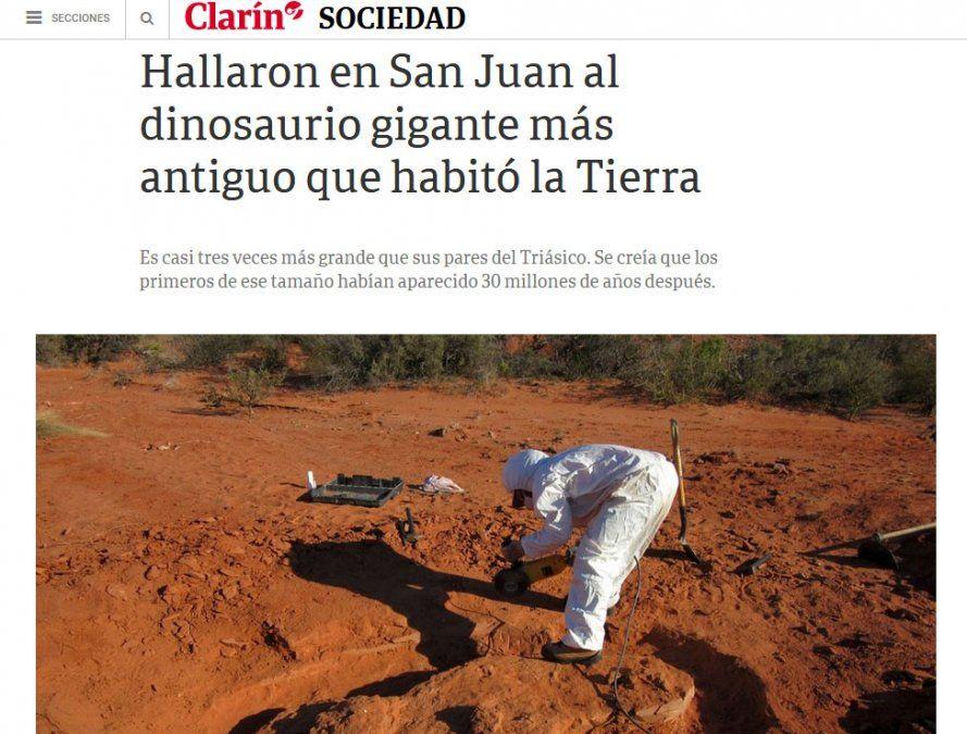 San Juan, ante los ojos del mundo por el hallazgo del dinosaurio gigante