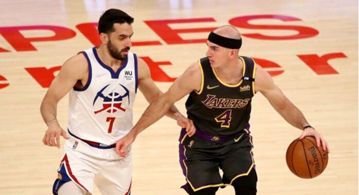 Denver perdió con Lakers y Campazzo consiguió otro record