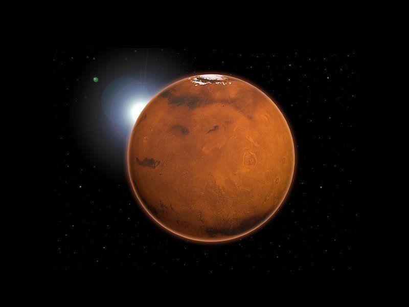 Tres cráteres superpuestos, el nuevo hito entre las cicatrices de Marte