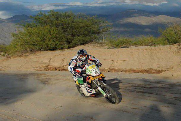Marc Coma ganó la tercera etapa y consiguió su primer triunfo en el Dakar 2011