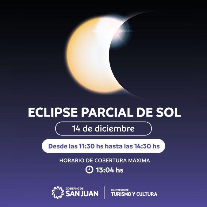 Este lunes habrá un nuevo eclipse de sol. Horarios.
