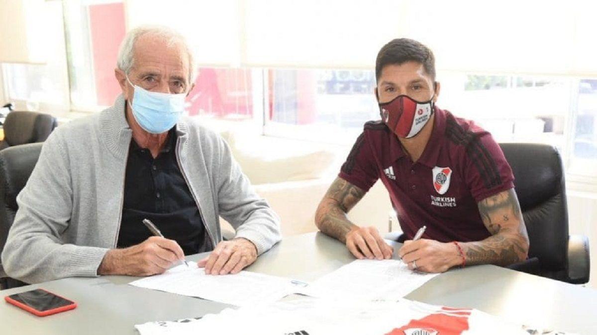 Enzo Pérez renovó contrato con River hasta fines de 2023