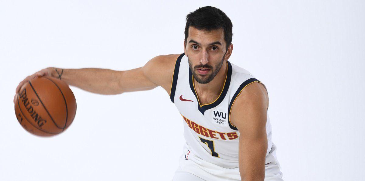 {altText(<p> Facundo Campazzo se puso por primera vez la #7 de Denver.</p>,NBA: Campazzo se puso por primera vez la camiseta de Denver )}