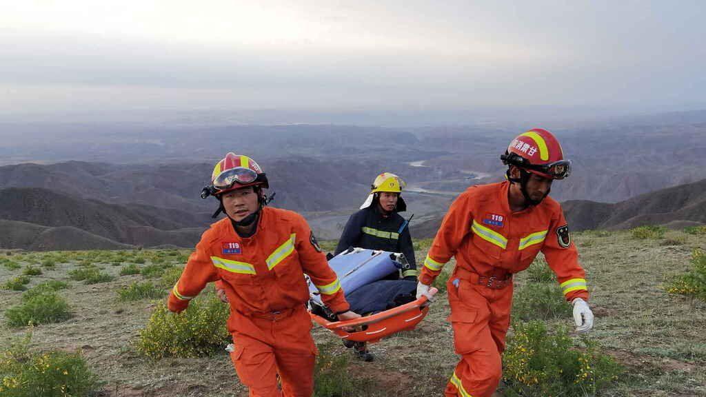 China: murieron de frío 22 corredores de montaña