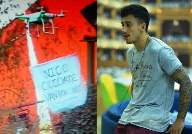Un drone entró a la casa de Gran Hermano para alertar a Nicolás