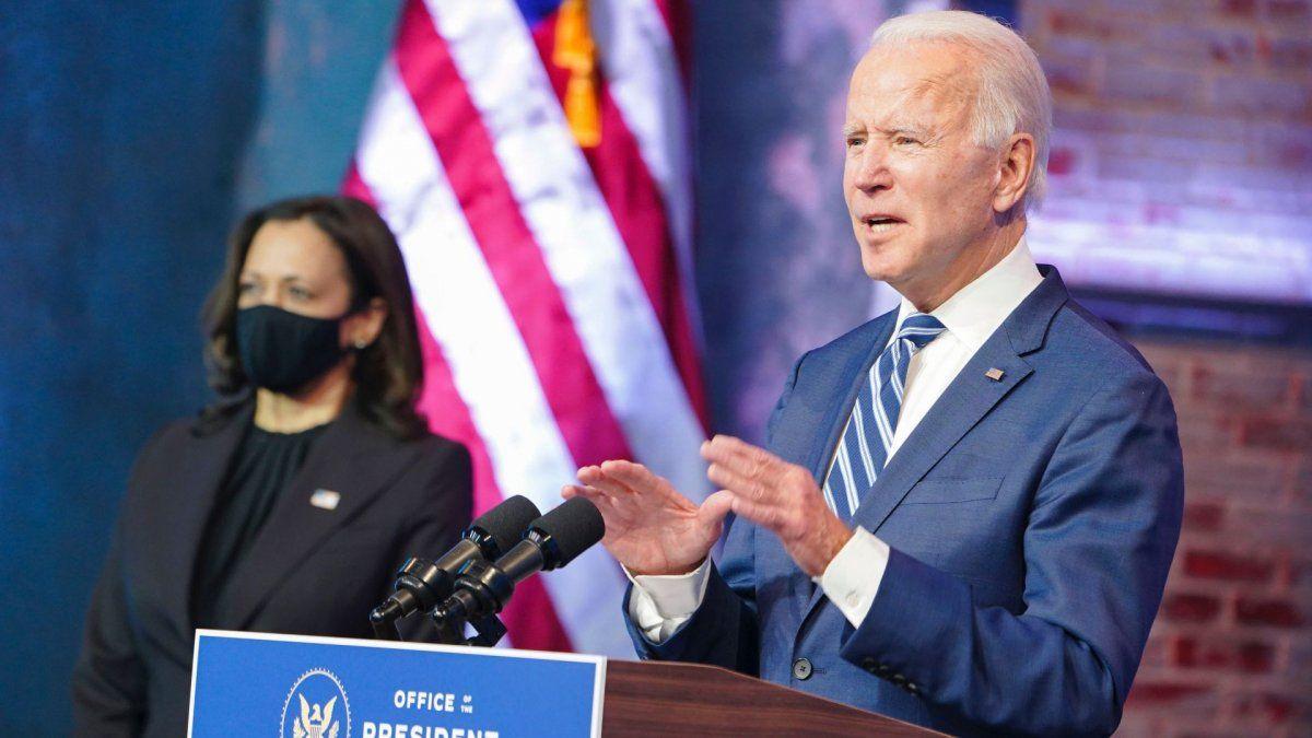 Joe Biden habló el día después a los incidentes en el Capitolio