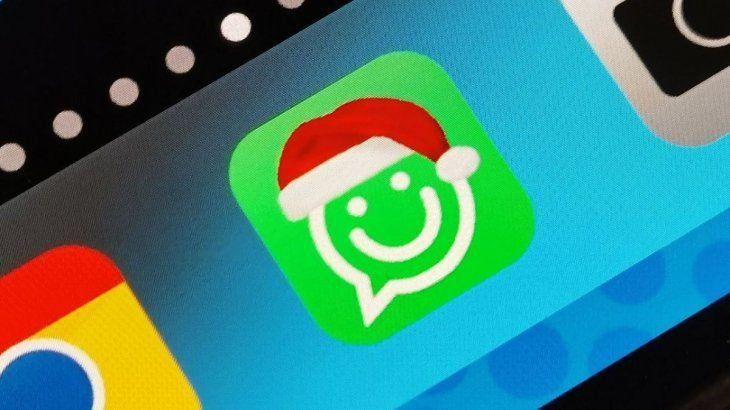 Espíritu navideño hasta en el Whatsapp