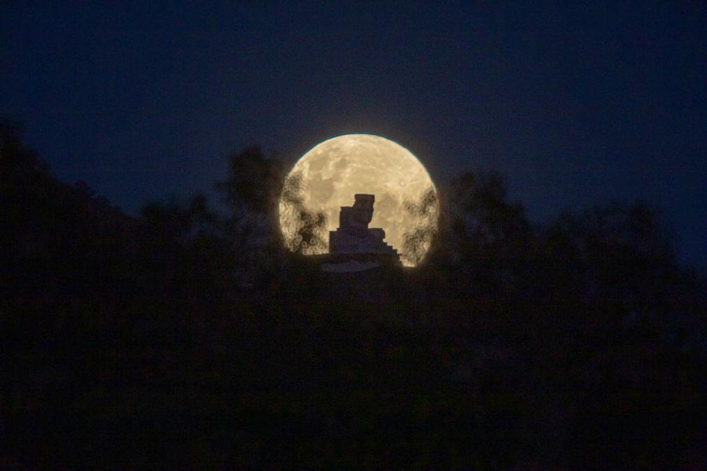 Luna llena en San Juan: Gentileza: Andrés Jones.