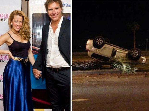 Accidente: La mujer de Fantino salvó su vida de milagro