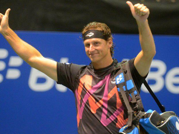 Nalbandian volvió a los entrenamientos con la Copa Davis entre ceja y ceja