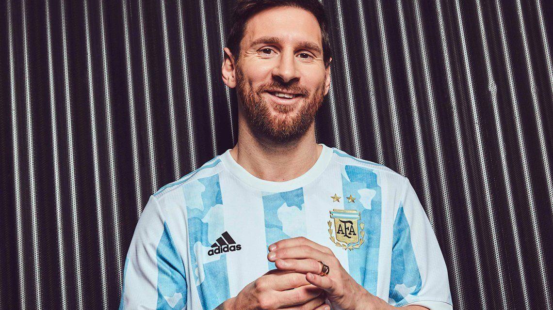 La Selección argentina lanzó su nueva camiseta 2021