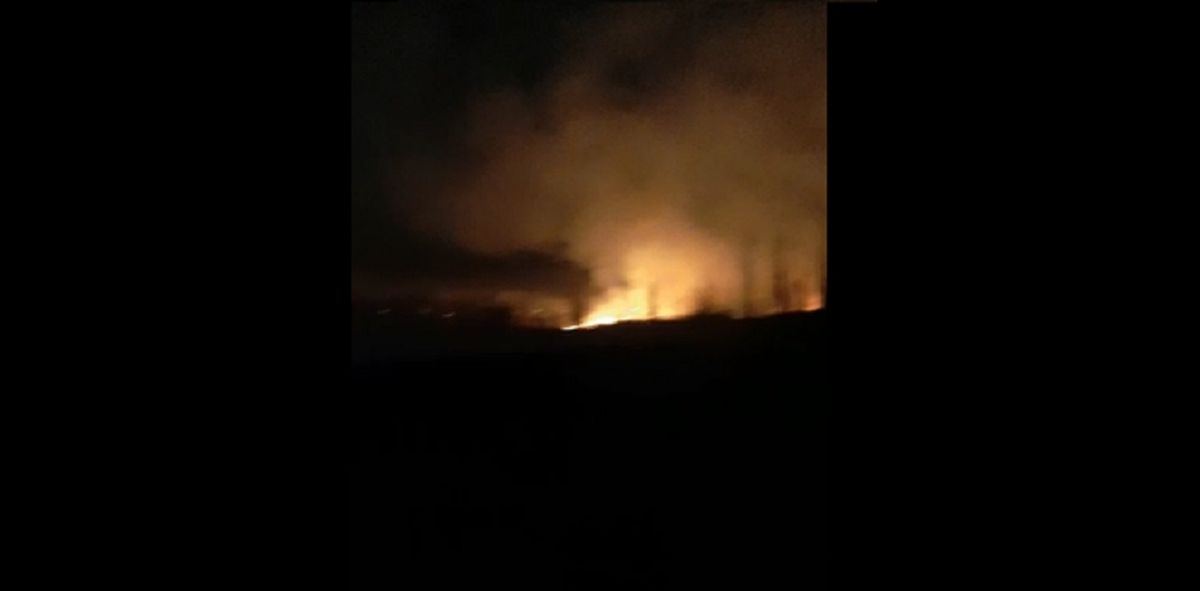 Un voraz incendio causó temor en una zona de Pocito