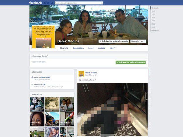 Un hombre mató a su esposa y subió la foto del cadáver a Facebook