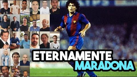 ¡Emotivo video! Maradona cumple 60 y el mundo del fútbol se unió para saludarlo