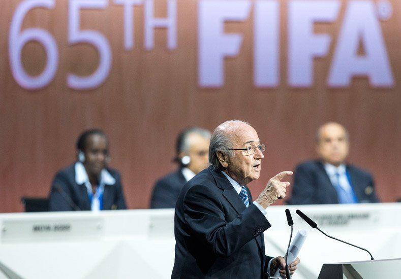 Como lo había anticipado, la AFA votó en contra de Blatter