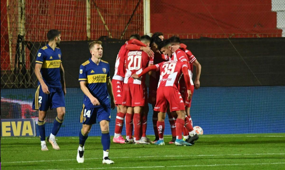 Boca empató 1 a 1 con Unión de Santa Fe. Foto: Juan José García.
