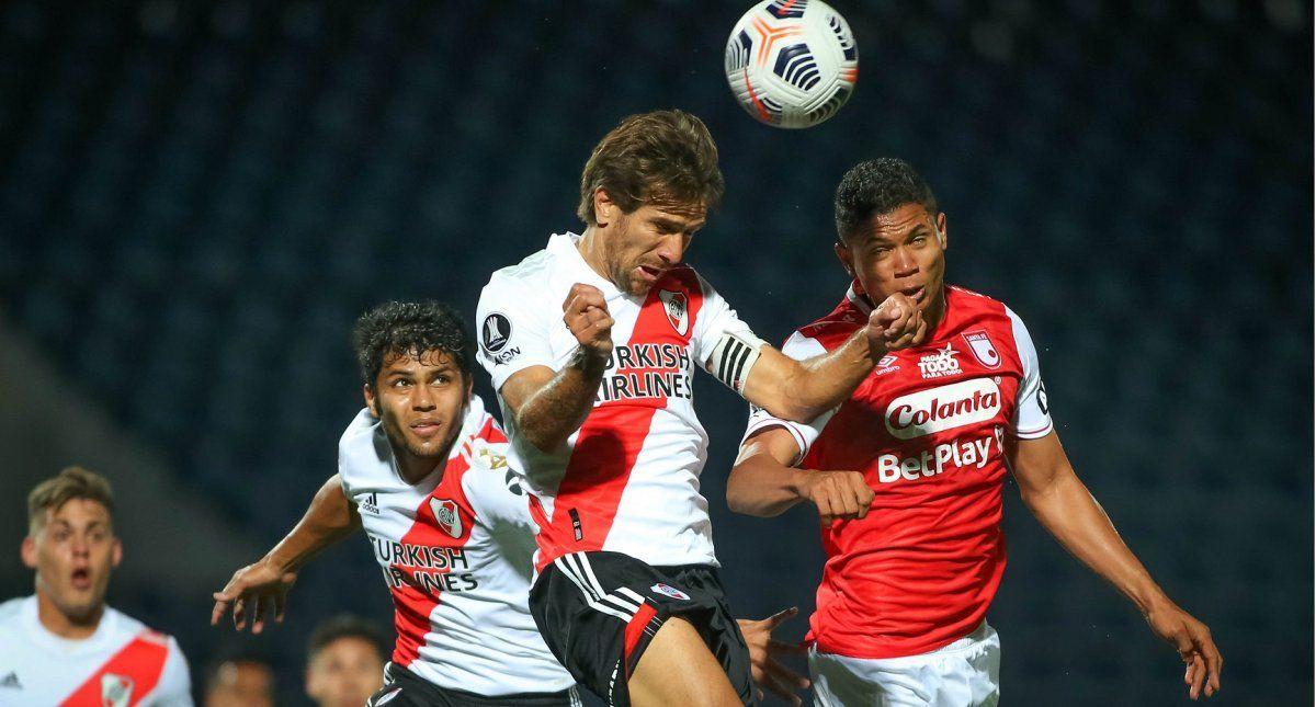 River empató con Independiente Santa Fe y dejó escapar una buena chance. Foto: Telam.