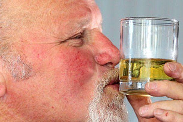 El whisky lo curó