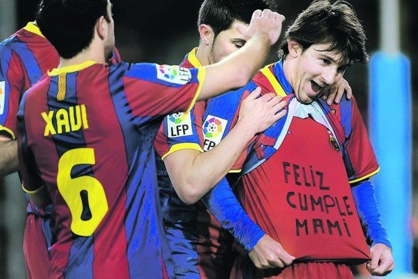 "El ""feliz cumple Mami"" le costará 2 mil Euros a Messi"