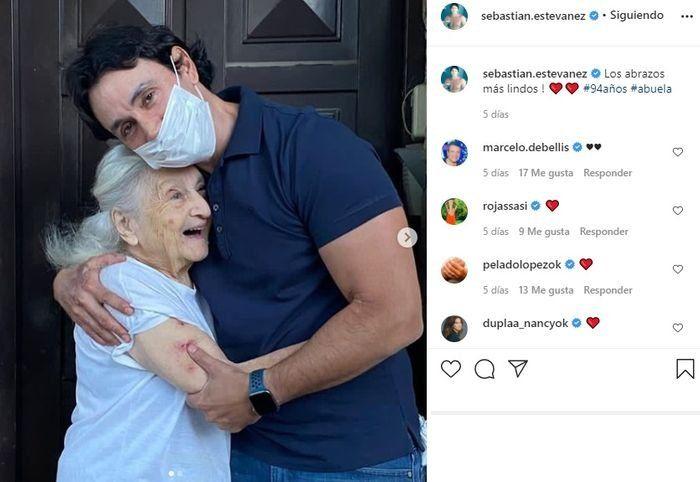 Sebastián Estevanez y el tierno reencuentro con su abuela