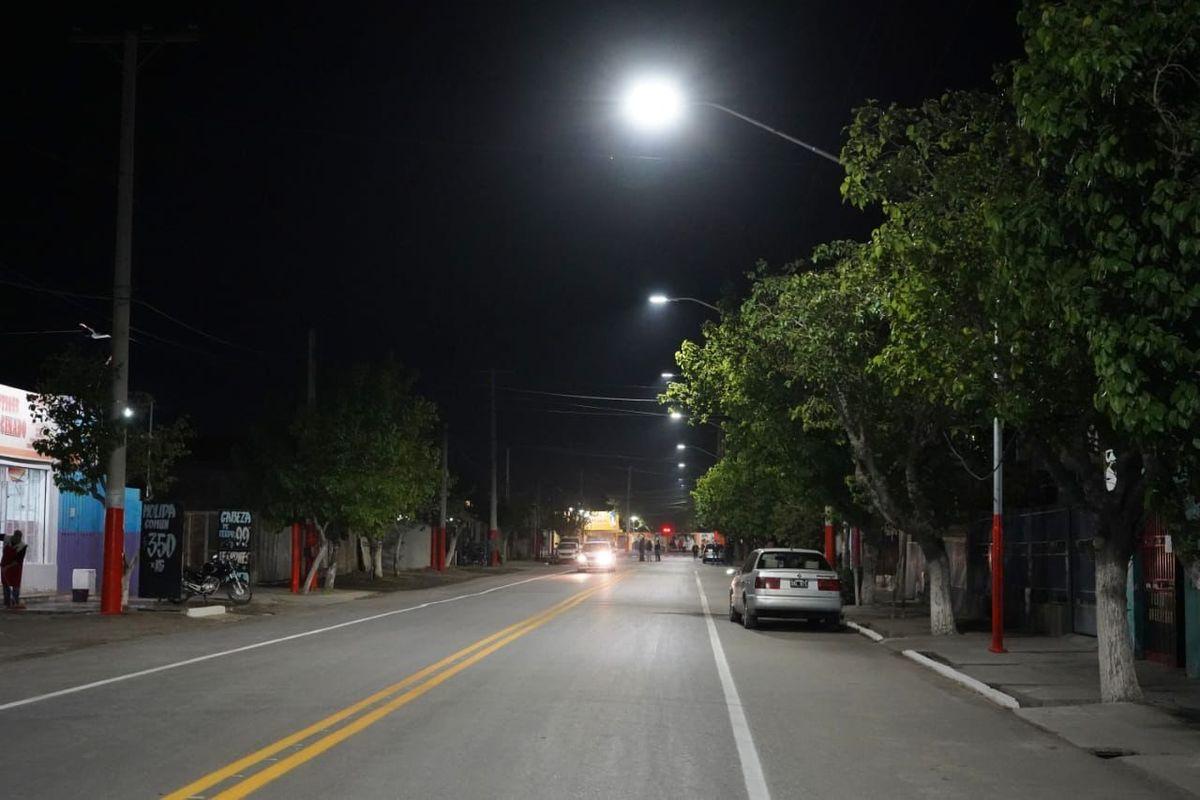 Chimbas sumó más kilómetros en iluminación LED